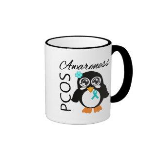 PCOS Awareness Penguin Ringer Mug