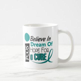 PCOS Believe Dream Hope Basic White Mug
