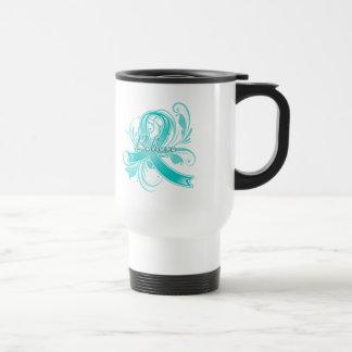 PCOS  Believe Flourish Ribbon Mug