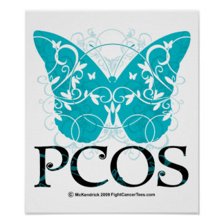 PCOS Butterfly Poster