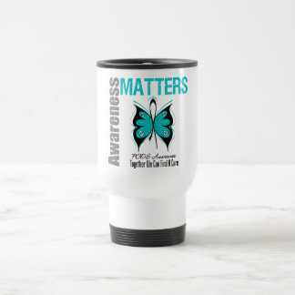 PCOS Cancer Awareness Matters 15 Oz Stainless Steel Travel Mug