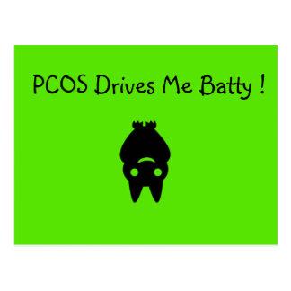 PCOS Drives Me Batty Halloween Postcard