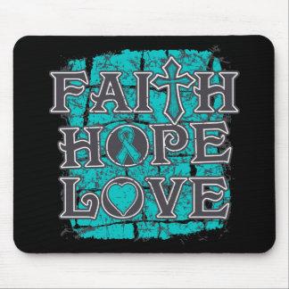PCOS Faith Hope Love Mousepad