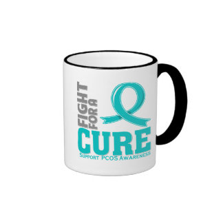 PCOS Fight For A Cure Ringer Mug