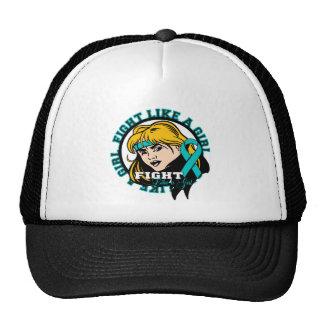 PCOS Fight Like A Girl Attitude Trucker Hat