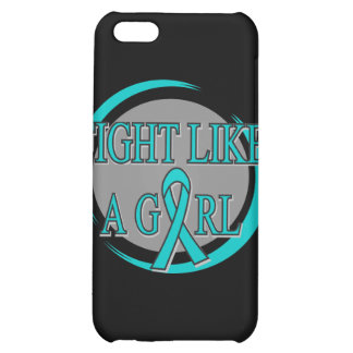 PCOS Fight Like A Girl Circular iPhone 5C Cases