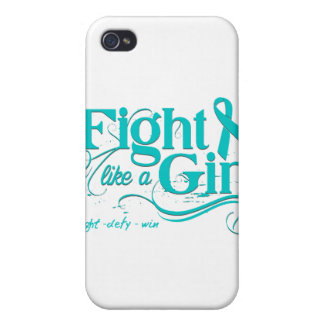 PCOS Fight Like A Girl Elegant iPhone 4 Cases