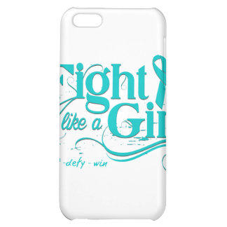 PCOS Fight Like A Girl Elegant iPhone 5C Case