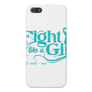 PCOS Fight Like A Girl Elegant iPhone 5 Cases