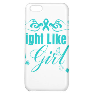PCOS Fight Like A Girl Ornate iPhone 5C Cases