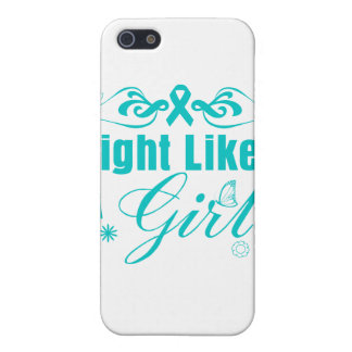 PCOS Fight Like A Girl Ornate Cases For iPhone 5