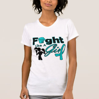 PCOS Fight Like A Girl Silhouette Tees