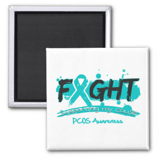 PCOS FIGHT Supporting My Cause Fridge Magnet