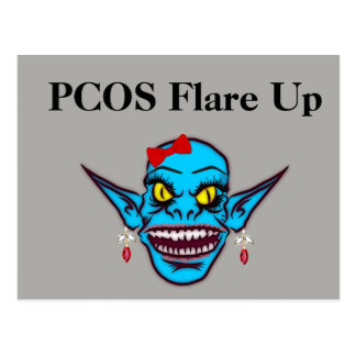 PCOS Flare Up Postcard