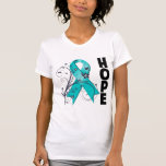 PCOS Floral Hope Ribbon T-shirt