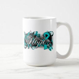 PCOS Garden Ribbon Coffee Mugs