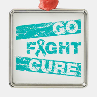 PCOS Go Fight Cure Christmas Ornaments