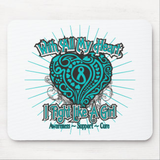PCOS Heart I Fight Like A Girl Mouse Pads