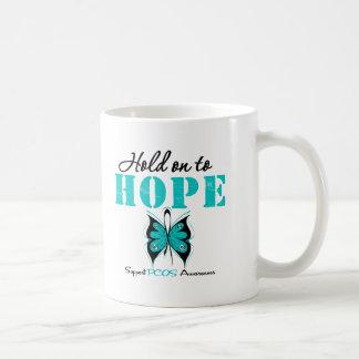 PCOS Hold On To Hope Basic White Mug