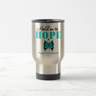 PCOS Hold On To Hope Mugs