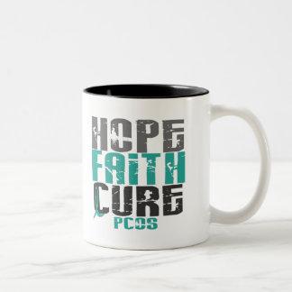 PCOS Hope Faith Cure Two-Tone Mug