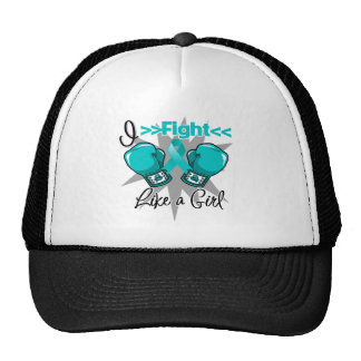 PCOS I Fight Like a Girl With Gloves Cap