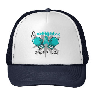 PCOS I Fight Like a Girl With Gloves Trucker Hat