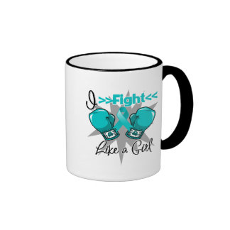 PCOS I Fight Like a Girl With Gloves Coffee Mugs