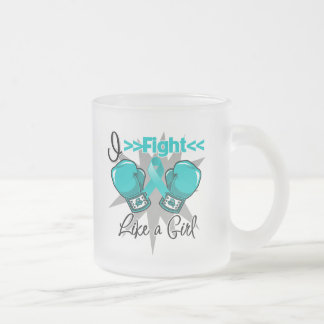 PCOS I Fight Like a Girl With Gloves Mugs
