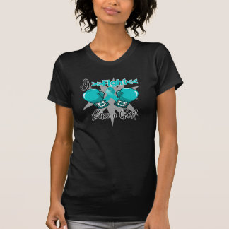 PCOS I Fight Like a Girl With Gloves Tshirt
