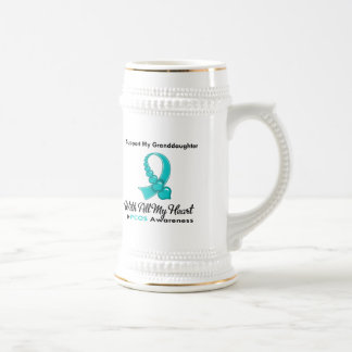 PCOS I Support My Granddaughter Beer Steins