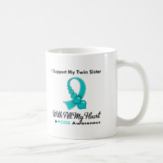 PCOS I Support My Twin Sister Coffee Mug