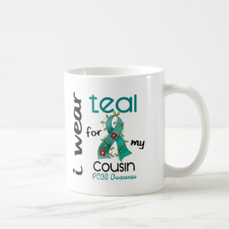 PCOS I Wear Teal For My Cousin 43 Basic White Mug