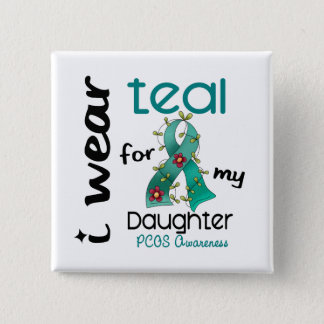 PCOS I Wear Teal For My Daughter 43 15 Cm Square Badge