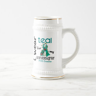 PCOS I Wear Teal For My Granddaughter 43 18 Oz Beer Stein