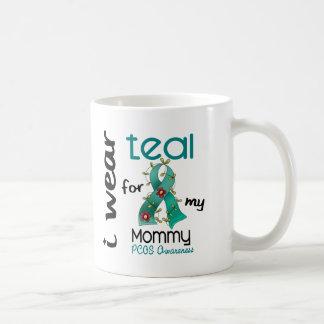 PCOS I Wear Teal For My Mommy 43 Basic White Mug