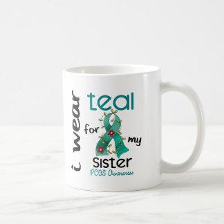PCOS I Wear Teal For My Sister 43 Basic White Mug