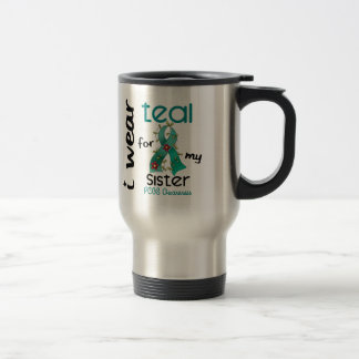 PCOS I Wear Teal For My Sister 43 Stainless Steel Travel Mug