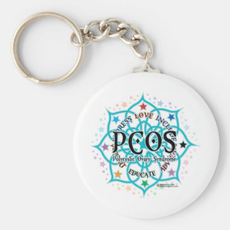 PCOS Lotus Key Ring