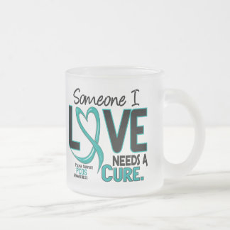 PCOS Needs A Cure 2 Frosted Glass Mug