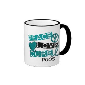 PCOS Peace Love Cure 1 Ringer Coffee Mug