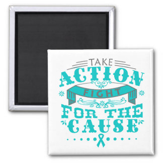 PCOS Take Action Fight For The Cause Refrigerator Magnet