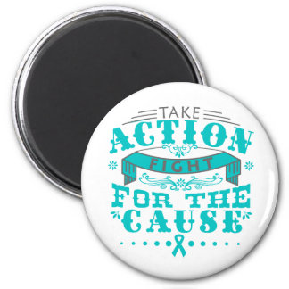 PCOS Take Action Fight For The Cause Refrigerator Magnets
