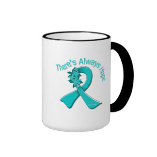 PCOS There's Always Hope Floral Ringer Coffee Mug