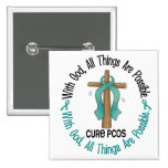 PCOS With God Cross Buttons