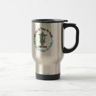 PCOS With God Cross Coffee Mug