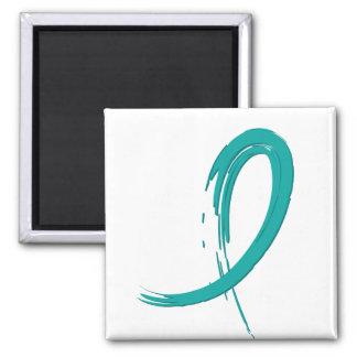 PCOS's Teal Ribbon A4 Fridge Magnet