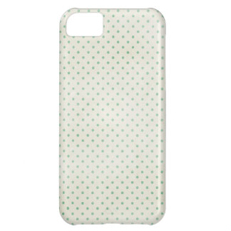 PD18 LIGHT TEAL POLKADOTS PATTERN  FASHIONABLE COL COVER FOR iPhone 5C