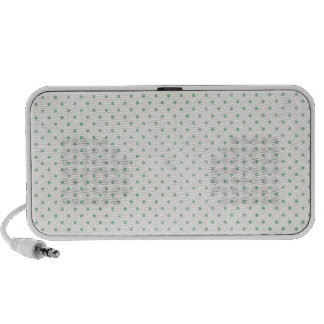 PD18 LIGHT TEAL POLKADOTS PATTERN  FASHIONABLE COL PORTABLE SPEAKERS