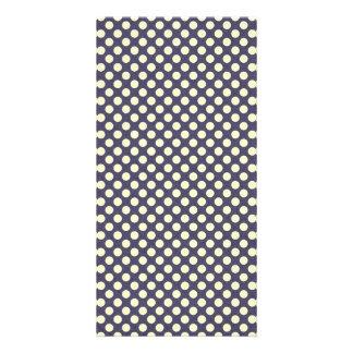 pd23-purplewhite PURPLE WHITE POLKADOTS POLKA DOTS Picture Card